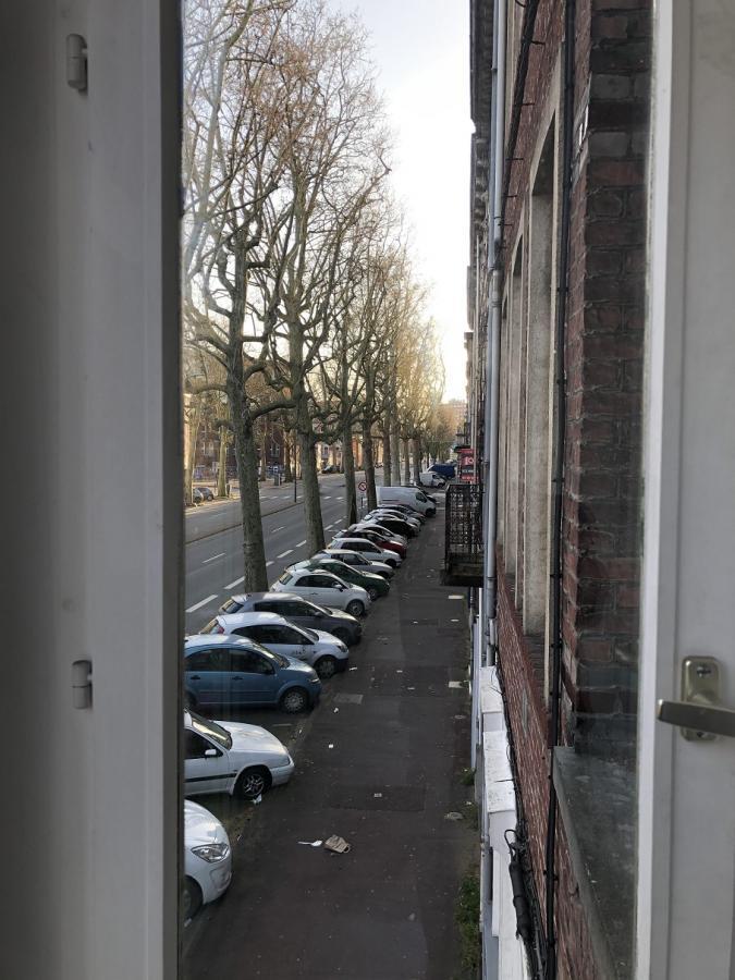 #AMAFENETRE Dominique, Lille, 29 mars/ le boulevard vide
